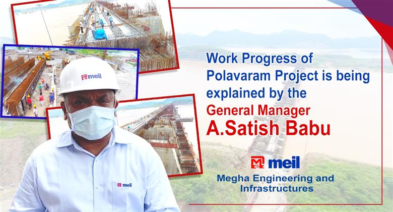 Work Progress of Polavaram Project is being explained by the General Manager A.Satish Babu|BPI