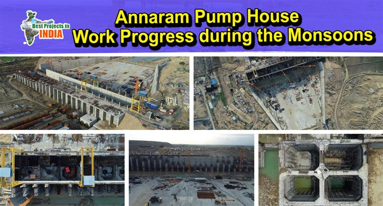 Work Progress of KLIS Project – Annaram Pump House Works