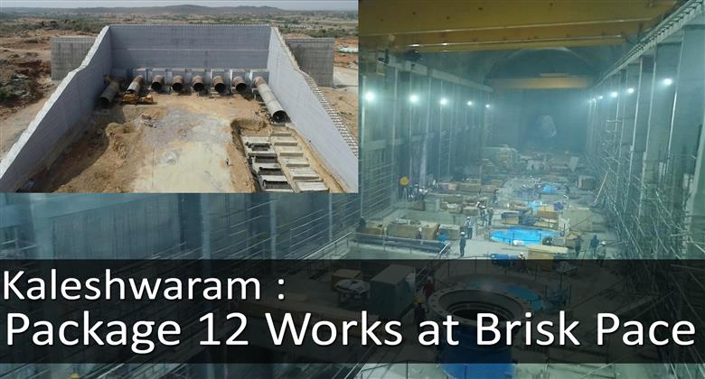 Kaleshwaram Package 12 Works at Brisk Pace