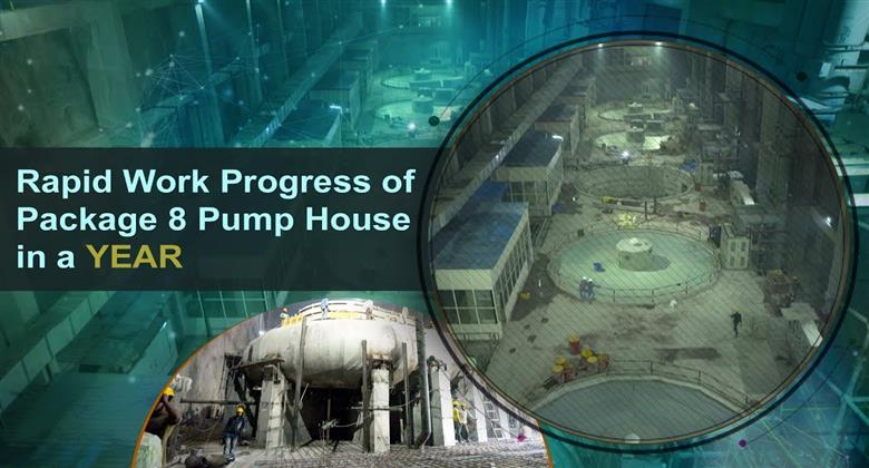Kaleshwaram Project  Rapid Work Progress of Package 8 Pump House in a YEAR