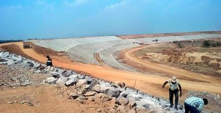 River Godavari journey to Kondapochamma Reservoir Works Progress as on 27th December 2019