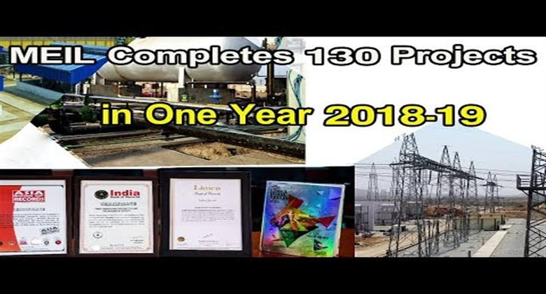 MEIL Completes 130 Projects in One Year 2018-19