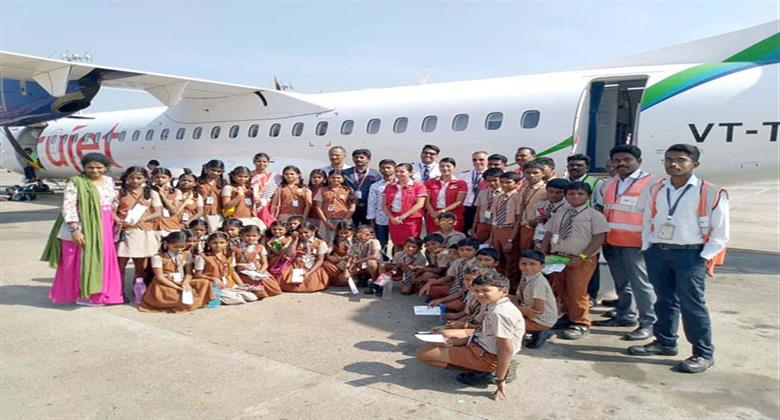 Trujet special flight for poor students